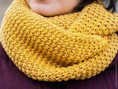 Tuto tricot: Snood au motif texturé et bordures i-cord