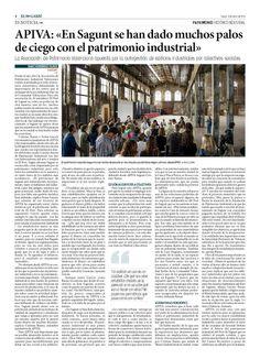 """Patrimonio Industrial Arquitectónico: APIVA: """"En Sagunt se han dado muchos palos de cieg..."""