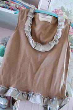 inspiration -Pure Cashmere Tank in Camel Altered Couture by OfLinenandLace, $38.50