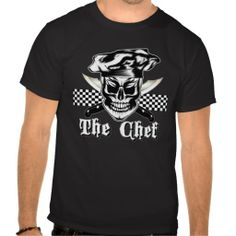 Find more cool Irish Gifts via http://www.AmericasMall.com/shopirish-creative-authentic-irish-gifts #irishgifts #gifts #shopirish Skull Chef Shirt