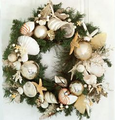 Seashells wreath from Tropical Cottage