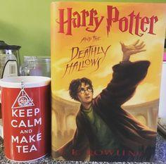 Drinking tea and destroying horcruxes.  #PotterLife . That is all.  Enjoy your Friday everyone! . . . #booknerd #books #booksarelife #booksaremagic #bookstagram #bookstagramcommunity #bookstagrammer #bookworm #read #reader #reading #lovetoread #harrypotter #tea #deathlyhallows #happyfriday
