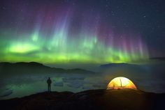 "nubbsgalore: "" photos by paul zizka in western greenland taken september 2015. notes paul, ""i love how the night time can turn familiar places into completely different experiences. i also love all..."