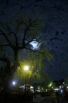 スーパームーン翌日の倉敷美観地区の夜景
