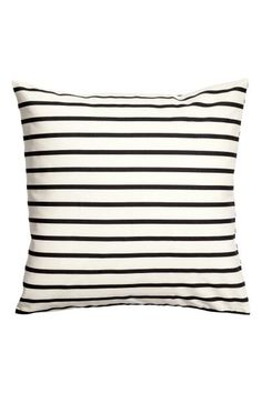 Cotton cushion cover: CONSCIOUS. Cushion cover in an  cotton weave with print stripes and a concealed zip.