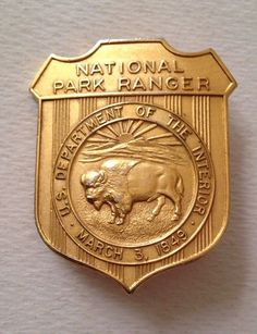 National Park Ranger, U. Department of Interior (Numbered on buck Law Enforcement Badges, Federal Law Enforcement, Battle Of Iwo Jima, Fire Badge, Honor Guard, Hobbies And Interests, Military Police, Forensics, Blue Line