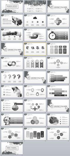 31+ Business Report PowerPoint templates Simple Powerpoint Templates, Professional Powerpoint Templates, Creative Powerpoint, Keynote Template, Infographic Templates, Infographic Powerpoint, Creative Infographic, Slide Design, Ppt Design