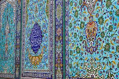 Beautiful blue-green decoration tiles, Isfahan http://www.flickr.com/photos/52471879@N08/14160618765