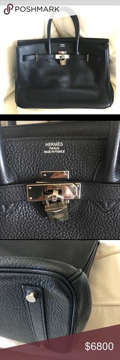 Hermès Birkin Togo Black Bag Listing created for remaining photos not able to post on the listing available for sale. Hermes Bags, Hermes Birkin, Totes, Best Deals, Womens Fashion, Closet, Black, Armoire, Black People