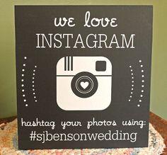 Custom Instagram Chalkboard Wedding Sign  Reception by SimplySadie, $36.00