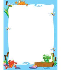 Create your own inspirational message or classroom display with this blank decorative chart with FUNky Frogs playful and light-hearted design. This chart includes enough space to personalize and creat Borders For Paper, Borders And Frames, Classroom Displays, Classroom Themes, Page Boarders, Printable Lined Paper, Boarder Designs, Frog Theme, Frog Crafts