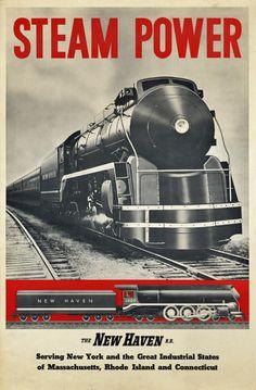New Haven R.R. Steam Power.