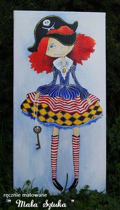 Paulina Kielar painted with acrylic paint