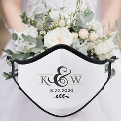 This custom initials wedding face mask is one of our WeddingWire editors' top picks. Click for more wedding mask ideas. Planning your wedding has never been so easy (or fun!)! WeddingWire has tons of wedding ideas, advice, wedding themes, inspiration, wedding photos and more. {Vistaprint}