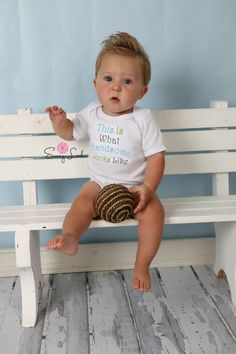 Baby Boy Clothes  Bodysuit Embroidered with  This is by sassylocks