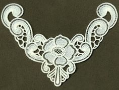 FSL Neckline 2 - 3, 6x10 | FSL - Freestanding Lace | Machine Embroidery Designs | SWAKembroidery.com Ace Points Embroidery