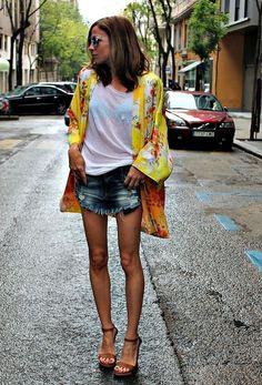 Oriental+camiseta blanca + Denim