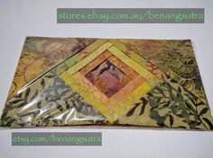 """""""Imperial Topaz"""" Batik Fabric Charm Pack 12.7 x 12.7 or 5"""" x 5"""" pack of 42""""charms"""" $16.95"""