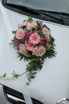 Autoschmuck Bridal Car, Wedding Car Decorations, Flower Arrangements, Floral Design, Crown, Weddings, Jewelry, Engagement, Valentines Day Weddings