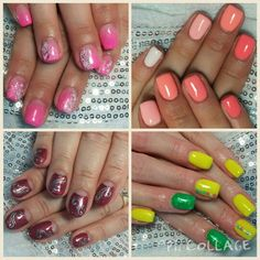 Have you tried ombre? No? Big mistake! :) your nails tech has many choices how to do that. I prefer shaded tones, two colours merged on a nail. But there is also another choice like in the picture in the upper right. You like that?