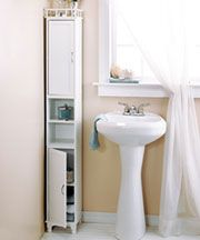 """RV bathroom storage.  check measurements before ordering. 65"""" Slim Storage Cabinets