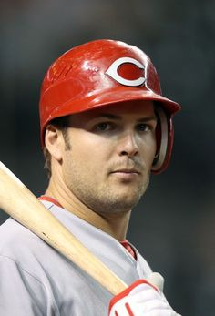 Chris Heisey #28 of the Cincinnati Reds on deck : Sigh!