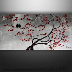 Peinture, oiseaux abstraite peinture, peinture de paysage, peinture de l