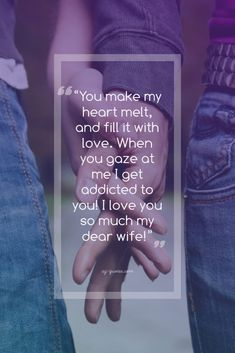"""If you're searching for """"love quotes for wife"""" I hope that you've not forgotten her birthday or your anniversary! Because sending a Romantic love quotes won't h Love Messages For Wife, Love Quotes For Wife, Qoutes About Love, Wife Quotes, Love Yourself Quotes, Romantic Gifts For Him, Romantic Love Quotes, Promise Day Photos, Searching For Love Quotes"""