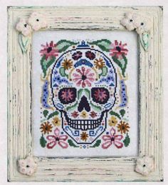 decorated skull - memento mori
