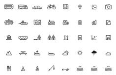 Slí — Cycle Ireland, lovely icon set