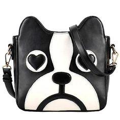 Dawdyfu Cute Dog Handbag Crossbody Clutch Purse Shoulder Bag Cartoon Puppy Satchel None
