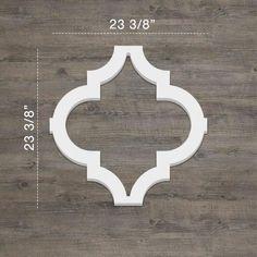Shop Medium Marrakesh Decorative Fretwork Wall Panels PVC - Overstock - 28555913 - - x White Wall Paneling, Off White Walls, Pvc Wall Panels, Decorative Wall Panels, Marrakesh, Wainscoting, Mandala, Wall Spaces, Home Improvement