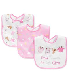 First Impressions Baby Girls  3-Pack Pink Bibs 98aa3ba8c