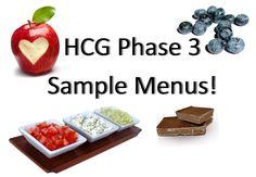 HCG Phase 3 Sample Menus