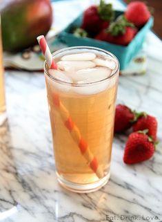 Strawberry Mango Iced Green Tea - Eat. Drink. Love.