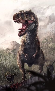 Tyrannosaurus by badillafloyd on DeviantArt - Prehistoric Dinosaurs, Prehistoric Creatures, Feathered Dinosaurs, Illustrator, Spinosaurus, Animal Bones, Jurassic Park World, Dinosaur Art, Extinct Animals