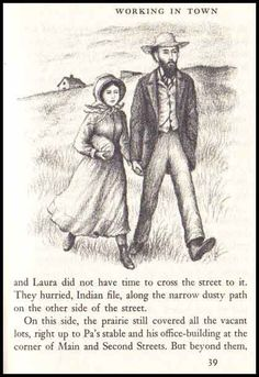 Garth Williams Little House Illustrations   Vintage 1953 'Little Town on the Prairie' Book - Laura Ingalls Wilder ...
