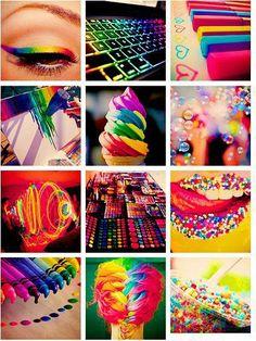 - Todas as cores de formas diferentes ;*
