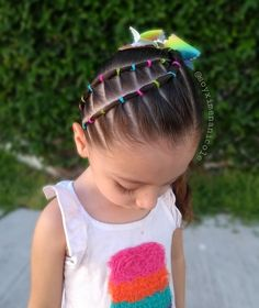 Although we do not give importance or perhaps we do not realize the hair of children suffers. These glamorous kiddies hairstyles are good for the girls. Quick Braided Hairstyles, Super Cute Hairstyles, Cute Natural Hairstyles, Protective Hairstyles For Natural Hair, Pigtail Hairstyles, Baby Girl Hairstyles, Toddler Hairstyles, Kids Hairstyle, Hairdos