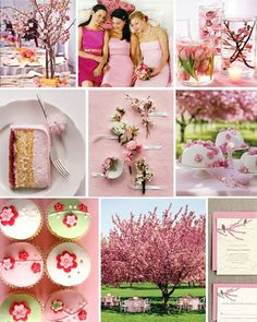 Cherry blossom themed wedding