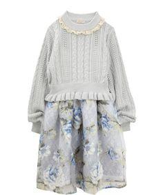 axes femme online shop|ニット&花柄キャミワンピースセット