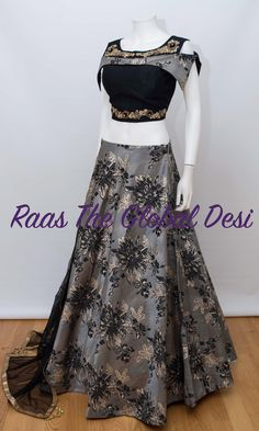 choli-Raas The Global Desi-[wedding_lehengas]-[indian_dresses]-[gown_dress]-[indian_clothes]-[chaniya_cholis] Lehenga Gown, Indian Lehenga, Indian Gowns, Bridal Lehenga, Blue Lehenga, Indian Wear, Choli Designs, Lehenga Designs, Blouse Designs