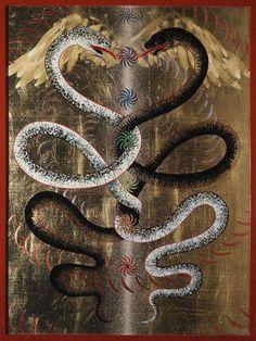 serpents caducée chackras