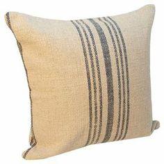 interior ideas--paint strips on pillow
