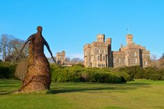 Lews Castle in Stornoway on the Isle of Lewis, being watched over by the 'Wicker Woman'