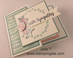 Stampin Gala: FUN FOLD SYMPATHY CARD VIDEO AND DIMENSIONS