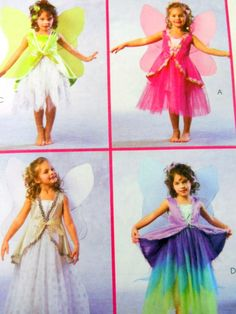McCalls Costume Sewing Pattern M4887 Child Sz CL 6-8 Girls Butterfly Halloween #McCall