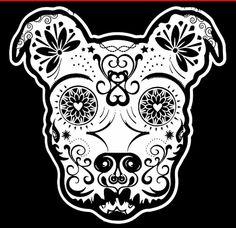Pitbull Sugar Skull