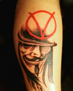 v per vendetta  tattoo