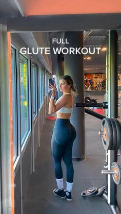 Leg And Glute Workout, Buttocks Workout, Slim Waist Workout, Gym Workout Videos, Gym Workout For Beginners, Dumbbell Workout, Butt Workouts, Gym Workouts Women, Mini Workouts